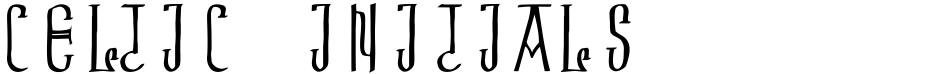 Click to view Celtic Initials font, character set and sample text