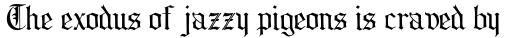 Collins Old English sample