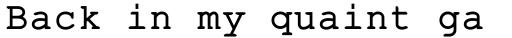 Fontcraft Courier Heavy sample