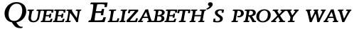 Breughel Bold Italic SC sample