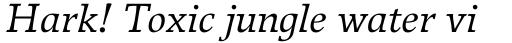 Breughel Italic sample