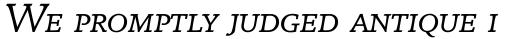 Breughel Italic SC sample