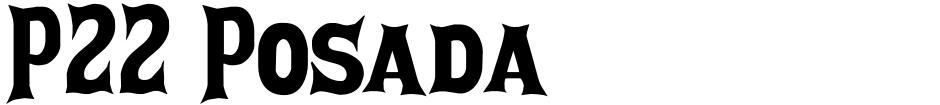 Click to view P22 Posada font, character set and sample text