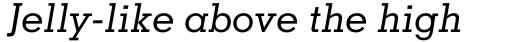 Memphis Medium Italic sample