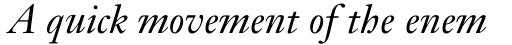 Janson Text 56 Italic sample