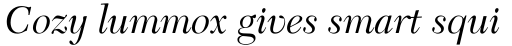 New Caledonia Italic sample