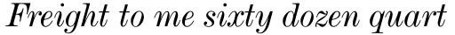 De Vinne Text Italic sample