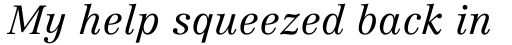 Linotype Centennial Std 46 Light Italic sample