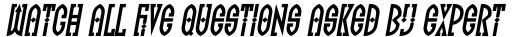 FF Totem Italic sample