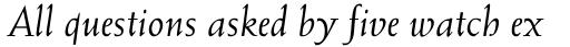 Weiss Italic sample