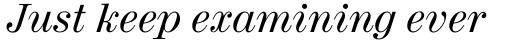 Century 725 Italic sample