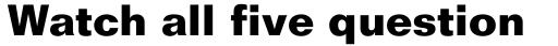 Folio Bold sample