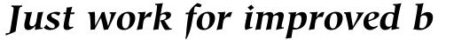 Hiroshige Bold Italic sample