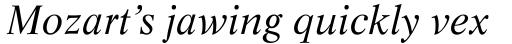 Life Italic sample