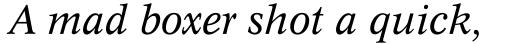 Dutch 809 Italic sample