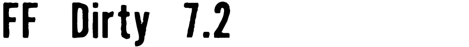 Click to view FF Dirty 7.2 font, character set and sample text