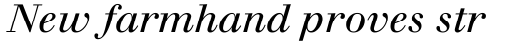 Walbaum Italic sample