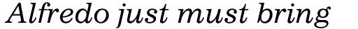 Impressum Italic sample