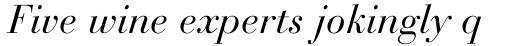 Bauer Bodoni Italic sample
