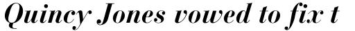 Bauer Bodoni Bold Italic sample
