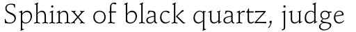 Stempel Schneidler Light sample