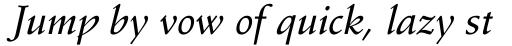 Stempel Schneidler Medium Italic sample