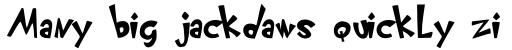 FF Klunder Script Bold sample
