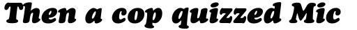Cooper Black Italic Headline sample