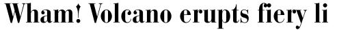 Bauer Bodoni Bold Condensed sample