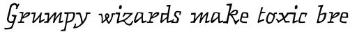 FF Matto OT Italic sample