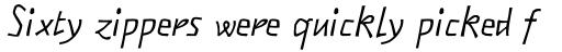 FF Matto Sans OT Italic sample