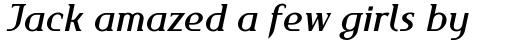 FF Maverick Medium Italic sample