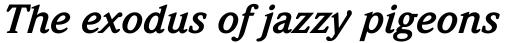 ITC Weidemann Bold Italic sample