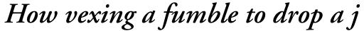 Adobe Garamond SemiBold Italic sample