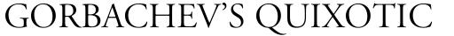 Adobe Garamond Titling Capitals sample