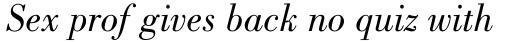 Bodoni Book Italic sample