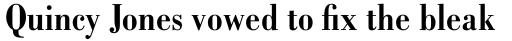 Bodoni Bold Condensed sample