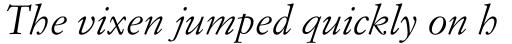 Simoncini Garamond Italic sample