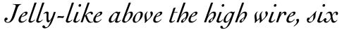 Engravers Oldstyle 205 Italic sample