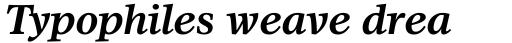 Olympian Bold Italic sample