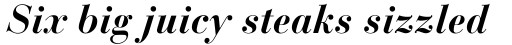 Bauer Bodoni Bold Italic Oldstyle Figures sample