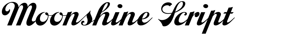 Click to view Moonshine Script NF font, character set and sample text