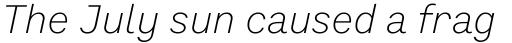 Preface Light Italic sample
