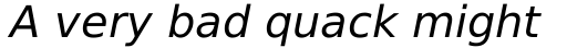 Prima Sans Oblique sample