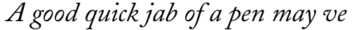 Adobe Caslon Italic sample