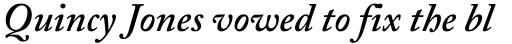 Adobe Caslon SemiBold Italic sample