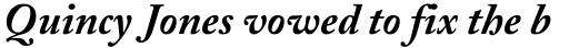 Adobe Caslon Bold Italic sample