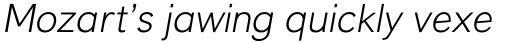 Liteweit Italic sample