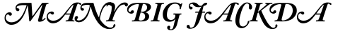 Adobe Caslon Bold Italic Swash sample