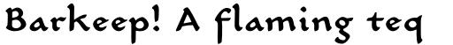 Carlin Script Medium sample
